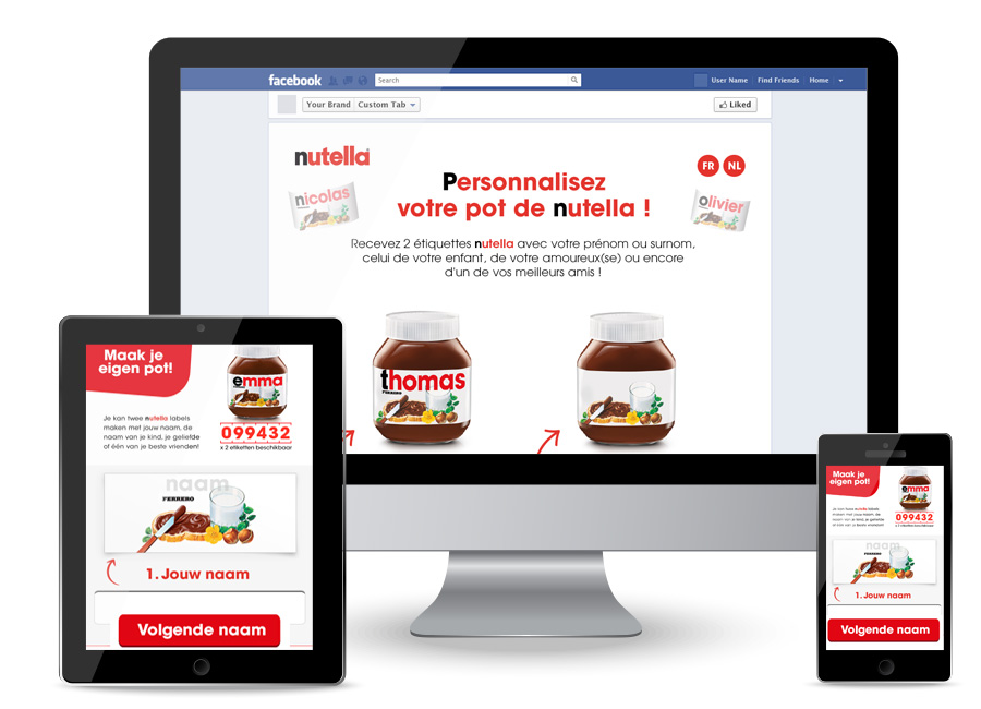 Nutella Personalised Label